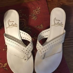 EUC Christian Louboutin Slip on Sandals